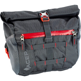 Acepac Bar Bag - Sac porte-bagages - gris/rouge